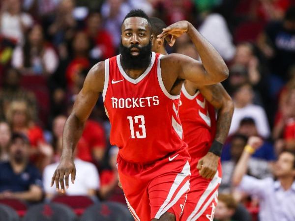 James Harden in Houston Rockets.