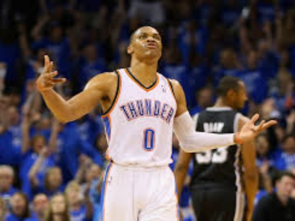 Russell Westbrook in Oklahoma Thunder.