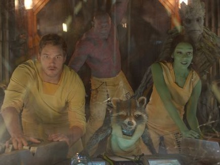 Fantastic tunes, a strange cast of characters that inexplicably works, and a story where you're hooked on a bunch of feelings, from the emotions of young Peter Quill crying over his dying mother to the hilarity of grown-up Peter (Chris Pratt) explaining Footloose to new pal Gamora (Zoe Saldana). We are Groot, indeed.