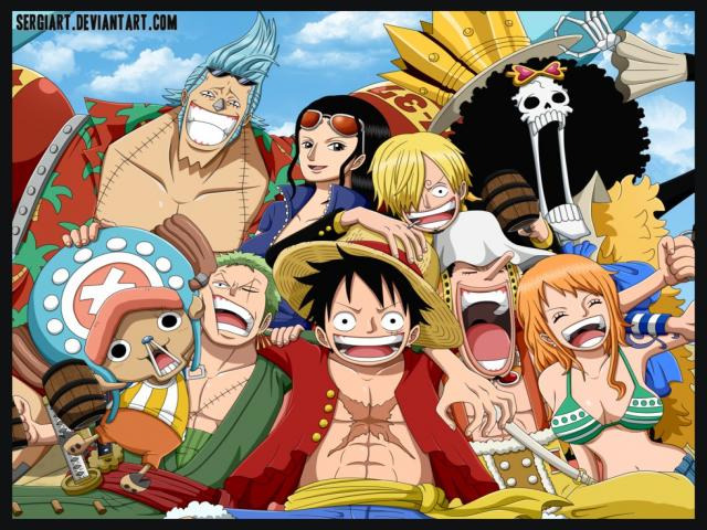 The story follows the adventures of Monkey D. Luffy, a boy whose body gained the properties of rubber after unintentionally eating a Devil Fruit. With his crew of pirates, named the Straw Hat Pirates, Luffy explores the Grand Line in search of the world's ultimate treasure known as