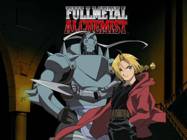 The story follows two alchemist brothers named Edward and Alphonse Elric, who are searching for the philosopher's stone to restore their bodies after a failed attempt to bring their mother back to life using alchemy.