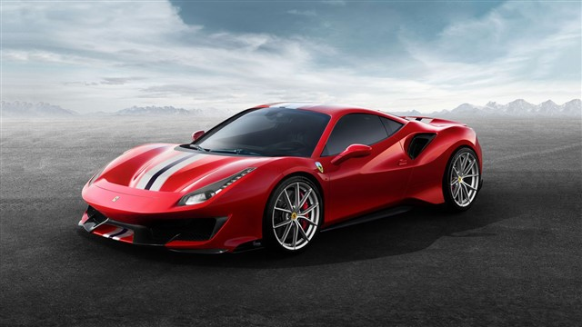 With a twin-turbo 3.9-liter V-8 located just behind the driver's seat, the 488GTB generates a sonorous wail and ferocious acceleration all the way to 8000 rpm, where it makes 661 hp.