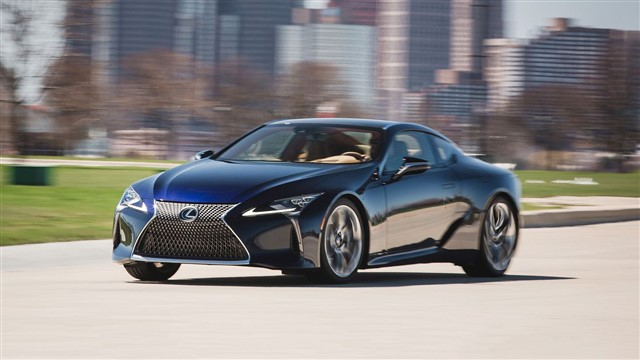Its sharply angled styling and athletic proportions hint at a serious performance car, and the LC mostly delivers.