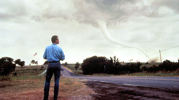 We can all agree that those digital tornadoes look cool. Heck, the plot of Twister is mostly just people admiring those tornadoes. But can we talk about that flying cow?