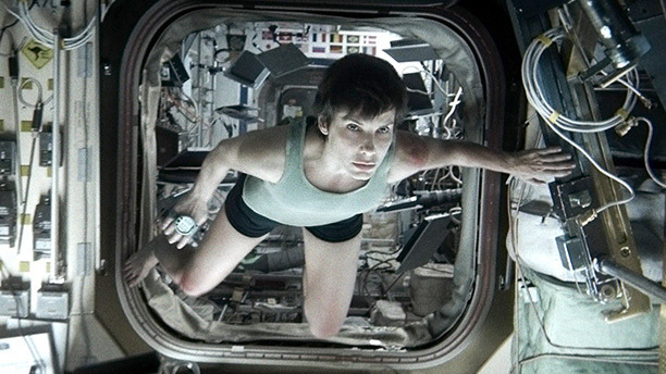 There's not much gravity in Gravity, and Sandra Bullock spent whole days inside a high-tech rig to create the illusion of weightlessness. Might've been easier just to go to space