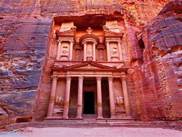 All of Jordan is filled with magic and wonder, culminating in Petra. This ancient city hewn from rock is unlike anywhere else on earth, with great sculpted temples created by desert tribes. This is one of the most remarkable cities ever built, and it's especially spectacular as the sun sets and at night.
