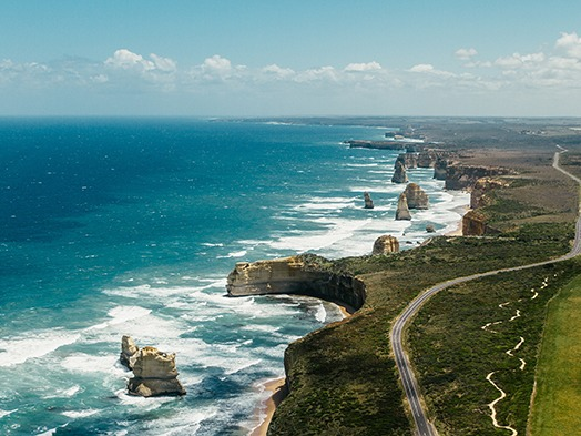 Aussies love a good, old-fashioned road trip and the Great Ocean Road is well-known as one of the best. Wind through the long coastal roads, stop off at cute seaside villages and rise early to see the beautiful 12 Apostles at sunrise. Stay along the way at any of the cute B & B's, guesthouses or boutique hotels.