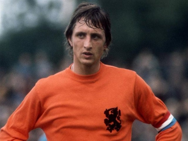 """Dutchfootballer Cruyff was one of the best attacking midfielder of his generation and just likeBeckenbauer, Cruyff revolutionized the game. He was product of Ajax acedamy and played most of his career with Ajax winning 7 dutch league titles and 3 european cups in process scored 190 goals in 240 matches before moving to Barcelona.He guided holland 1976 world cup final where they lost against Germany in the final but not before Holland stunned the world with their new brand of football called """"total football"""" where players could interchange positions and Cruyff was the great benefactor as he was equally good playing on the wings or in central attacking areas.He scored 33 goals in 48 international matches for Holland"""