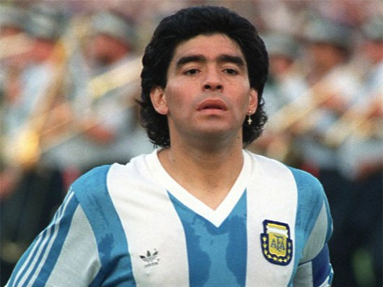 Probably the greatest dribble football has ever seen, Maradona guided a very average Argentina to 1986 world cup glory and scored two of the best goals in history of football in the process. Maradona's name is often mentioned in the same breath as Pele when we talk about greatest soccer players of all times. Maradona unlike Pele played most of his club career in Europe with FC Barcelona and Italian outfit Napoli.On the basis of his peak years and his sheer ability to dribble with the ball, he has to be up there as one of the greatest footballers to have every played the game.