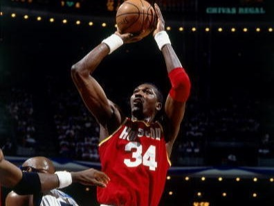 Career playoff stats: 25.9 PPG, 11.2 RPG, 3.3 BPGAccolades: 2 NBA titles, 2 Finals MVPs, 1 reg. season MVPMostly regarded as the most skilled big man in the history of the game,Hakeem Olajuwon's dominance on the inside was a thing of beauty. He abused many a defender with his trademark