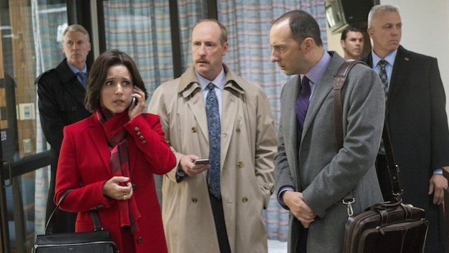 Veep satirizes the political world by distilling it down to what the public likes to watch most: the screw-ups. From foot-in-mouth moments to missent documents to squeaky shoes, everything Selina Meyer (Julia Louis Dreyfus) does is scrutinized, turned into an offense, and spit back at her through the distorted prism of Twitter and never-ending public opinion polling. They never specify Meyer's political party, and it's no surprise that its fans span the political spectrum. Through and through, it's a comedy nerd's dream team. Erica Lies