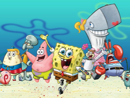 SpongeBob SquarePants is an American animated television series created by marine biologist and animator Stephen Hillenburg for Nickelodeon. The series chronicles the adventures and endeavors of the title character and his various friends in the fictional underwater city of Bikini Bottom. The series' popularity has made it a media franchise, as well as the highest rated series to ever air on Nickelodeon, and the most distributed property of MTV Networks. As of late 2017, the media franchise has generated $13 billion in merchandising revenue for Nickelodeon.