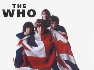 The Who is an English rock band formed in London, England in 1964 . The members are Roger Daltrey (lead singer), Pete Townshend (guitarist), John Entwistle (bassist), and Keith Moon (drums). They are best known for their live performances and hit songs Baba O'Riley, My Generation, and Won't Get Fooled Again. Some noted achievements were their rock operas, Tommy (album), Quadrophenia (album), and A Quick One, While He's Away (song).