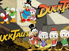 DuckTales is an American animated television series, produced by Walt Disney Television Animation and distributed by Buena Vista Television. The cartoon series premiered on September 18, 1987, and ran for a total of 100 episodes over four seasons, with its final episode airing on November 28, 1990. Based upon Uncle Scrooge and other Duck universe comic books created by Carl Barks, the show follows Scrooge McDuck, his three grandnephews Huey, Dewey, and Louie, and close friends of the group, on various adventures, most of which either involve seeking out treasure or thwarting the efforts of villains seeking to steal Scrooge's fortune or his Number One Dime.