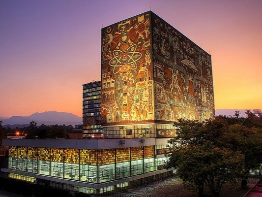 Consistently the highest-ranked university in Mexico, Universidad Nacional Autónoma de México (UNAM) is ranked fourth in Latin America this year, and achieves the highest score in the whole index for academic reputation. Its main campus, Ciudad Universitaria (University City), built in a collaborative architectural design project in the 1950s, is so artistic that it was named a UNESCO World Heritage Site in 2007. UNAM has several other campuses in the metropolitan area of Mexico City and beyond, and has a huge student enrollment of 346,730.