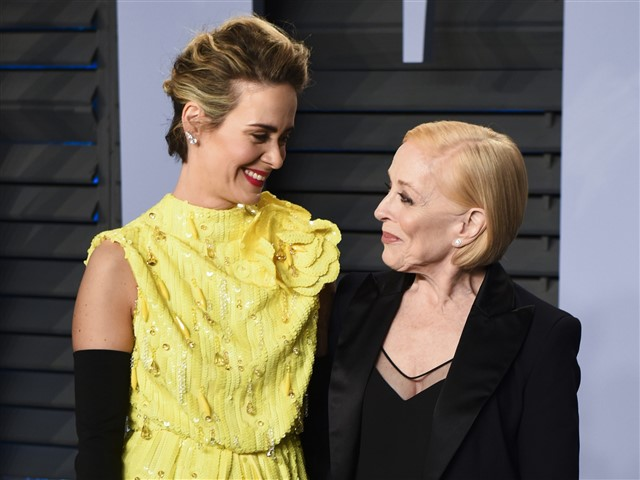 Sarah Paulson made a rare appearance on the red carpet with her partner, Holland Taylor.