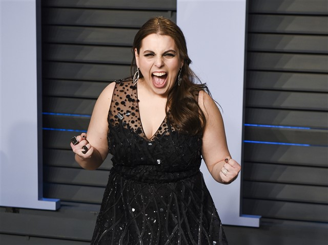 Beanie Feldstein was very excited to see a Broadway outlet on the red carpet.
