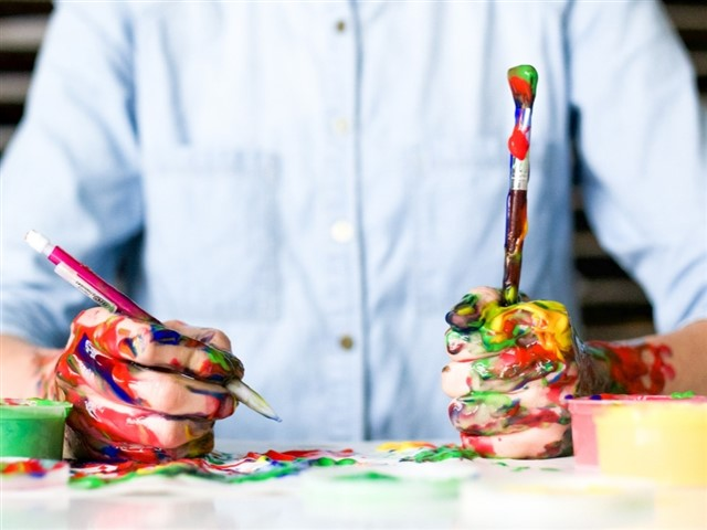 Did you used to love doodling as a kid? Is baking your thing? Whether it's knitting, bread-making, playing the guitar, writing or making origami (whatever you're into), we all have a little creativity inside us, and tapping into it can be really rewarding. It doesn't even matter whether you're any good, just focusing on the act of creating something gives your mind a rest from all the anxious thoughts swirling around and lets you breathe.