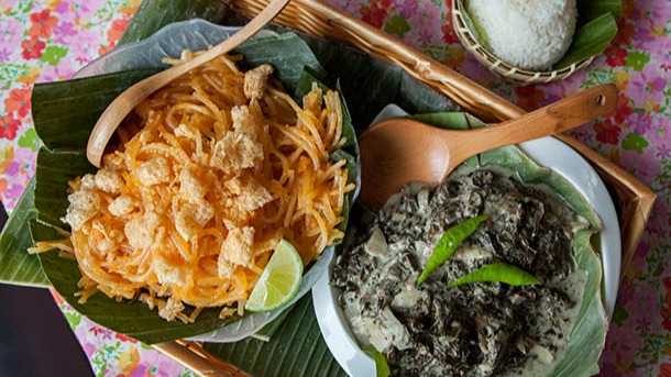 One of many Filipino restaurants in Queens' Woodside neighborhood, Papa's Kitchen stands out for its home-cooking cuisine and exceptionally hospitable service. Feel like part of the family as you dig into tender tamarind-simmered pork, beef and peanut stew, and crispy pork rinds served on banana leaves.