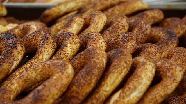 The absolute breakfast staple, simit (a round pastry covered entirely in sesame seeds) has become somewhat of an icon in terms of Turkish street food. Ask for some olive paste and grab a glass of Turkish tea from somewhere to make it complete.