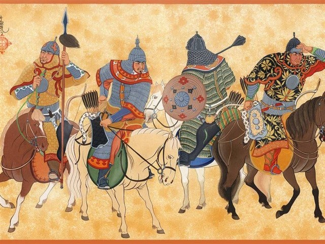 The Mongol Empire existed during the 13th and 14th centuries and was the largest contiguous land empire in history.