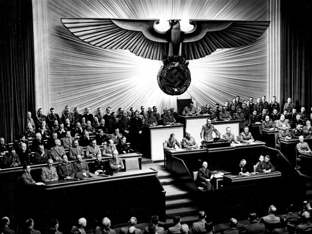 Nazi Germany is the common English name for the period in German history from 1933 to 1945, when Germany was under the dictatorship of Adolf Hitler through the Nazi Party.