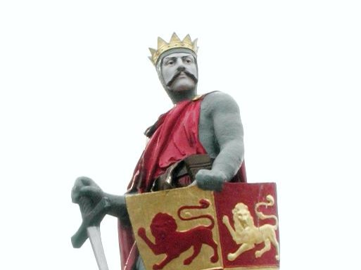 "In case you can't tell from the lack of vowels, this is a Welsh king who reigned for around 45 years from 1195 to 1240. The length of his reign is disputable not just because it was so long ago, but also because Wales was not a united kingdom at the time. Llywelyn was a prince of Gwynedd and he had to fight for control of that territory before he could extend his reach any further. He was established as the leader of Gwynedd by 1200 and next annexed Powys in 1208. By the time of his death in 1240, much of Wales was under his control either directly or through a ruler who recognised Llywelyn's power. But his position as leader of Wales was never formalised, and historians debate just how ""great"" he really was."