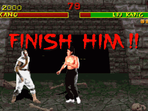 "How outrageous a video game is changes over time – some of the games that seem fairly innocuous today would have shocked an audience in the 80s or 90s. So it was with Mortal Kombat which provoked outrage on its release in 1992, thanks to unprecedented levels of violence. One particular feature was the finishing move, which was called a Fatality – once you'd defeated your opponent, you could use a special move to kill them. It was this mercilessness that marked Mortal Kombat apart from its competitors, and brought the phrase ""Finish 'em"" into everyday gamer parlance. It was the first game to ever be given a mature rating by the Entertainment Software Rating Board and was banned in several countries, but has gone on to become one of the most enduring franchises of all times, with many different versions of the game, along with TV shows, books and even a movie or two."