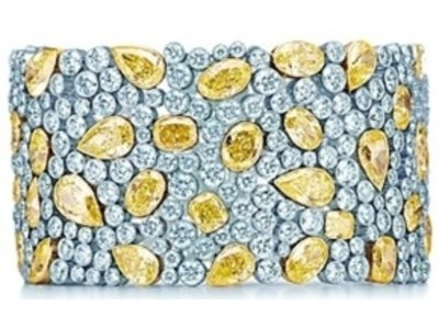 "There are no mistakes on this next item, by luxury jewelers Tiffany. The price isn't even on their website, presumably going by the mantra ""if you have to ask, you can't afford it"". But a little digging reveals that this rather bling-tastic bracelet is a cool $1.3 million. It has 59 yellow diamonds, and the rest of the platinum bracelet is filled in with boring old white diamonds, bringing the total carat count to over 100. It's also, as you might be able to see, a bit ugly. It's garish and heavy-looking and breaks the cardinal rule that gold and silver shouldn't be seen together. But still, if you really want to impress someone just buy this and show them the receipt. They'll have to love it, even if they don't like it."
