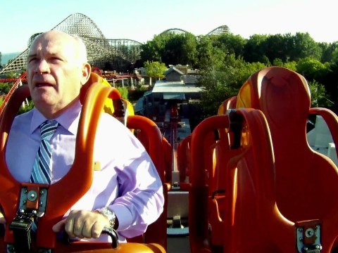 """Alton Towers in London is looking for roller coaster testers. Necessary skills? A very strong stomach. """"Every morning before the park opens to the public, each ride goes through serious testing so we're looking for someone that can take this on,"""" the park's Katherine Duckworth said. """"They will need to be a huge fan of rides and have a very strong stomach as they'll need to spend hours on our biggest and most famous rollercoasters."""" While this job sounds like great fun, we're pretty sure the advancement opportunities are limited."""