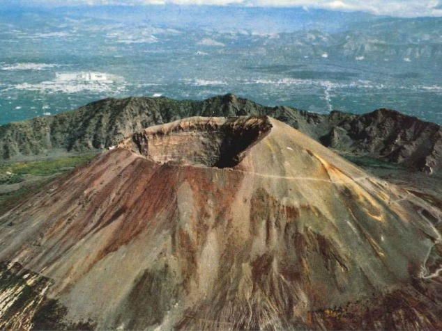 This volcano is located in Italy. This is a big threatening volcano that shown its power to the earth once. It was in 1st century BC when a powerful explosion erased the cities of Pompey and Herculano (Ercolano now days), and killed around of 25000 people. Now days close to this volcano, 3 million people live, and the fact that worries the scientists, is that the volcano has been sleeping for so long. This means, the next explosion will be a very big one. We just don't know when it will be.