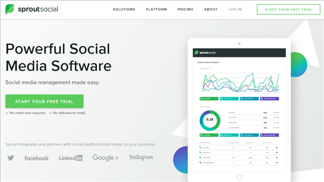 A serious digital marketing executive needs to take note—this is the tool that will let you use a collaborative platform to communicate across all your social media platforms seamlessly. With analytics and even publishing features this one shouldn't be missed when you want to deal with everything social in one place.