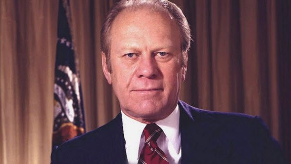 "Gerald Ford Pardoned The Most Crooked President.He'd spied on enemies and tried to burgle the Democratic Party's offices. He'd lied under oath and tried to cover it up. There are so many crimes he may have committed while president that America was demanding closure. Instead, President Ford just handed him a ""get out of jail free"" card, and Tricky Dick walked away."