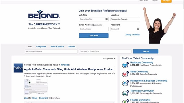 Beyond helps millions of professionals network with each other and find jobs to advance their careers.