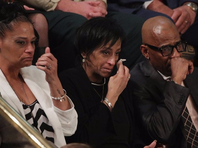 President Trump chose some very interesting guests for his 2018 State of the Union speech. The First Lady's box was graced with the likes of North Korean defectors, war heroes and their supporters, and border patrol officers. The tie for most tear-jerking attendees was between the police family who adopted the unborn daughter of an opiate addict and the pair of parents whose daughters were murdered by members of the vicious gang known as MS-13.Even though they're breaking the law by entering the country, most illegal immigrants who come to the United States don't represent a threat to national security. MS-13 members, however, legitimately worship death and indiscriminately kill and rape for no reason.As the cameras rolled, President Trump called out each of the parents by name. Republican members of Congress stood and clapped, but almost every Democratic member sat in stony silence or played on their smartphones. Trump had exposed on live television how little Democrats seemed to care about the victims of gang violence when the implications didn't fit in with their agendas.