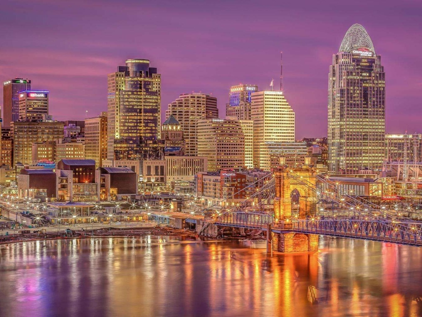 Cincinnati (/ËŒsɪnsɪˈnæti/ SIN-sih-NAT-ee or sin-sih-NAT-ee) is a city in the U.S. state of Ohio and is the government seat of Hamilton County.[9] Settled in 1788, the city is located at the northern side of the confluence of the Licking and Ohio rivers. The city drives the Cincinnati–Middletown–Wilmington combined statistical area, which had a population of 2,172,191 in the 2010 census.[10] With a population of 301,301, Cincinnati is the third-largest city in Ohio and 65th in the United States. It is the fastest growing economic power in the Midwestern United States based on percentages[11] and the 28th-biggest metropolitan statistical area in the U.S. Cincinnati is also within a single day's drive of two-thirds of the United States populace.[12]