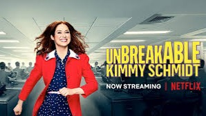 Unbreakable Kimmy Schmidt is an American web television sitcom created by Tina Fey and Robert Carlock, starring Ellie Kemper in the title role, that has streamed on Netflix since March 6, 2015.[1] Originally set for a 13-episode first season on NBC for spring 2015, the show was sold to Netflix and given a two-season order.[2]The series follows 29-year-old Kimmy Schmidt (Kemper) as she adjusts to life in New York City after her rescue from a doomsday cult in the fictional town of Durnsville, Indiana, where she and three other women were held by Reverend Richard Wayne Gary Wayne (Jon Hamm) for 15 years.https://en.wikipedia.org/wiki/Unbreakable_Kimmy_Schmidt