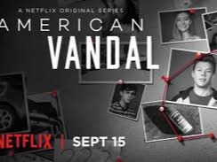 American Vandal is an American television mockumentary series that premiered on Netflix on September 15, 2017. The series is a satire of true crime documentaries such as Making a Murderer and Serial (which it is explicitly compared to in episode 4). American Vandal was created by Dan Perrault and Tony Yacenda, with Dan Lagana acting as the showrunner. On October 26, 2017, Netflix renewed the series for an eight-episode second season, which will premiere in 2018.https://en.wikipedia.org/wiki/American_Vandal