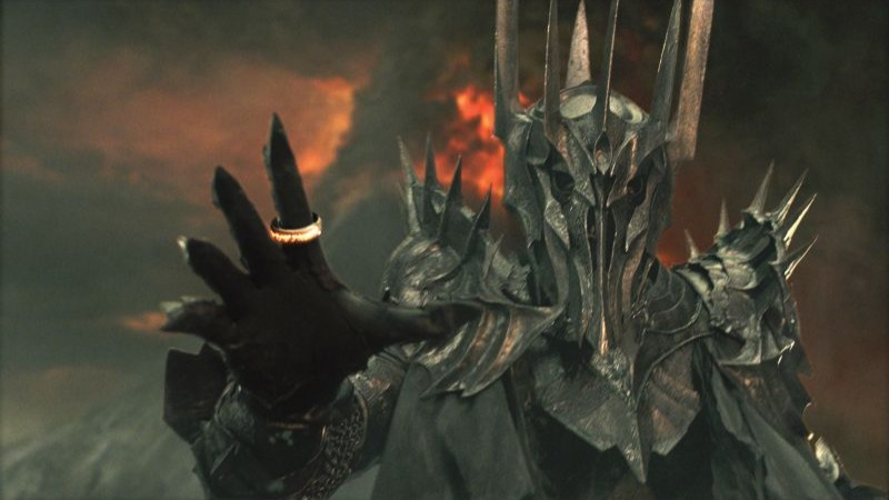Sauron /ˈsaÊŠrÉ'n/[1] is the title character[note 1] and main antagonist[3] of J. R. R. Tolkien's The Lord of the Rings.In the same work, he is identified as the Necromancer, mentioned in Tolkien's earlier novel The Hobbit. In Tolkien's The Silmarillion (published posthumously by Tolkien's son Christopher Tolkien),[4] he is also described as the chief lieutenant of the first Dark Lord, Morgoth. Tolkien noted that the Ainur, the