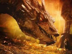 Smaug (/smaÊŠÉ¡/[1]) is a fictional character and the primary antagonist in J. R. R. Tolkien's 1937 novel The Hobbit. He is a powerful, fearsome dragon who invaded the Dwarf kingdom of Erebor 150 years prior to the events described in the novel. A group of thirteen dwarves mounted a quest to take the kingdom back, aided by the wizard Gandalf and the hobbit Bilbo Baggins. Smaug is described as