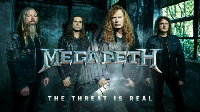 Megadeth is an American heavy metal band from Los Angeles, California. Guitarist Dave Mustaine and bassist David Ellefson formed the band in 1983 shortly after Mustaine's dismissal from Metallica. Along with Metallica, Anthrax, and Slayer, Megadeth is one of the
