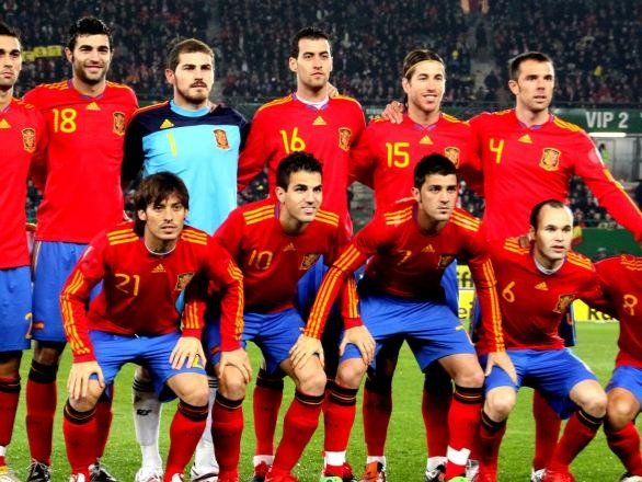 The Spain national football team (Spanish: Selección Española de Fútbol)[a] represents Spain in international men's association football and is controlled by the Royal Spanish Football Federation, the governing body for football in Spain. Spain has been a member of FIFA since its foundation in 1904, even though the Spanish Football Federation was first established in 1909. Spain's national team debuted in 1920. Since then, the Spanish national team has participated in a total of 15 of 21 FIFA World Cups and they have qualified consistently since 1978, the only UEFA team aside from Germany to do this. They have also appeared at 10 of 15 UEFA European Championships, having won a shared record with Germany, of three continental titles.