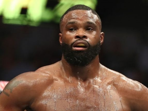 Tyron Lakent Woodley (born April 7, 1982) is an American professional mixed martial artist and broadcast analyst, who is currently the reigning UFC welterweight champion.[4] A professional since 2009, Woodley also fought in Strikeforce. As of September 11, 2018, he is #6 in official UFC pound-for-pound rankings.Source: https://en.wikipedia.org/wiki/Tyron_Woodley
