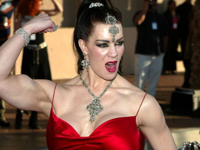 Chyna[12] (born Joan Marie Laurer; December 27, 1969 – April 20, 2016) was an American professional wrestler, glamour model, pornographic film actress, and bodybuilder.Source:https://en.wikipedia.org/wiki/Chyna
