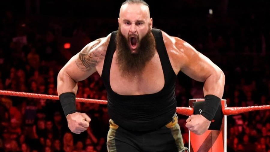 Adam Joseph Scherr (born September 6, 1983)[1] is an American professional wrestler and former strongman currently signed to WWE, where he performs on the Raw brand under the ring name Braun Strowman.[3] He is the winner of the 2018 Men's Money in the Bank contract along with the titular match[5] at the Greatest Royal Rumble event.[6] He is also a former holder of the Raw Tag Team Championship with Nicholas, a 10-year-old fan.Source: https://en.wikipedia.org/wiki/Braun_Strowman