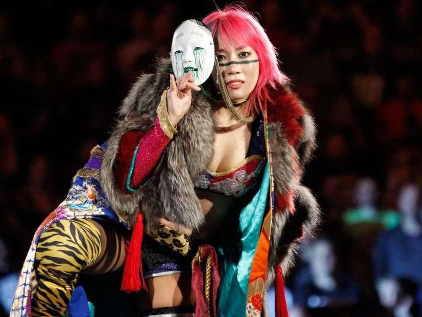 Kanako Urai (浦井 佳奈子 Urai Kanako, born September 26, 1981)[1][2] is a Japanese professional wrestler currently signed to WWE, performing on the SmackDown brand under the ring name Asuka (アスカ, /ˈɑːskÉ™/).Source:https://en.wikipedia.org/wiki/Asuka_(wrestler)