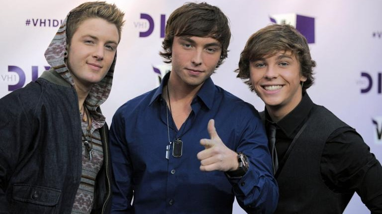 Emblem3 was an American reggae pop band from Sequim, Washington, consisting of brothers Wesley Stromberg and Keaton Stromberg, and Drew Chadwick.[1] In 2013, they signed with Simon Cowell's record label Syco Records and Columbia Records after finishing fourth on the second season of The X Factor USA.[2] They have since been dropped from their record label.Source:https://en.wikipedia.org/wiki/Emblem3