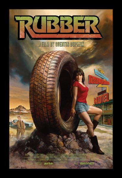Nope, this is not a silly comedy like Flubber. Rubber actually follows a bloodthirsty tire that has a crush on a real human woman–no, we didn't make that up. This movie is super disturbing and plain weird. Whoever came up with this idea is a special, special person…