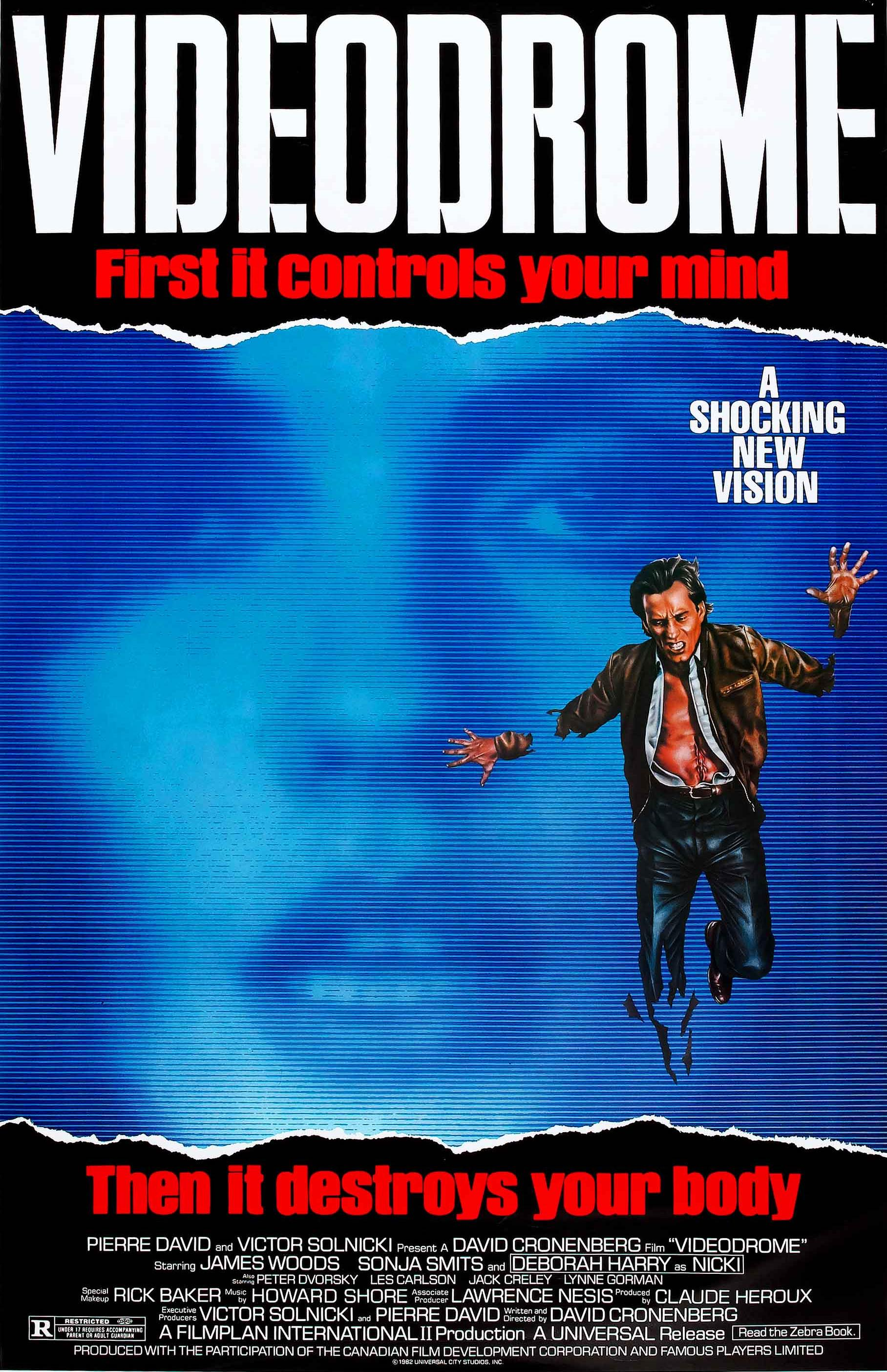 Videodrome is more of an Akira-style body-horror movie, released right before Akira. This movie resembles a cross between Bladerunner and The Thing, and we love it.