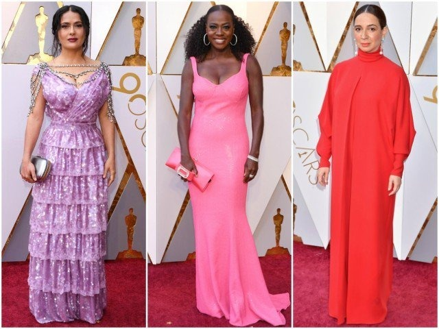 This year's Academy Awards witnessed some of the most beautiful ensembles with Jennifer Garner donning a stunning blue dress and Gina Rodriguez owning an embellished gold gown.However, it also played host to some of the strangest sartorial failures with Salma Hayek's purple faux pas and Viola Davis drowned in hot pink. Here are some celebs who didn't get the fashion memo and quite simply, missed the mark at the 90th Academy Awards.